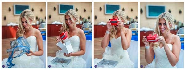 A Bride Loves her Custom RetroViewer Gift from her Photographer
