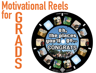 Send your grad off in style with a custom RetroViewer gift