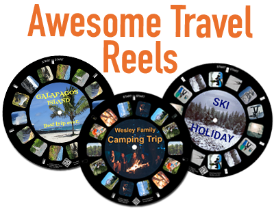 Relive your travel memories with a custom reel keepsake