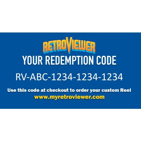 Redemption code is a gift card with a cash value for a free reel