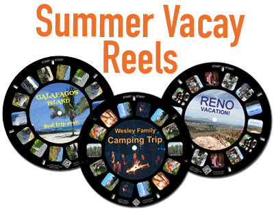 Summer vacations remembered on a custom RetroViewer