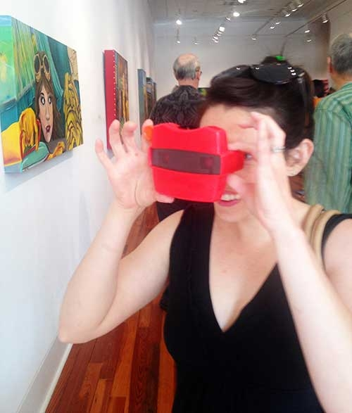 A custom RetroViewer used at an art show