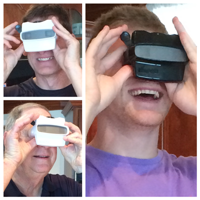 3 Generations love their RetroViewer Christmas Present