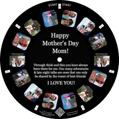 Tell mom how much you love her with a custom RetroViewer