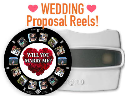 Custom reels are perfect for any part of your wedding from proposals to invites
