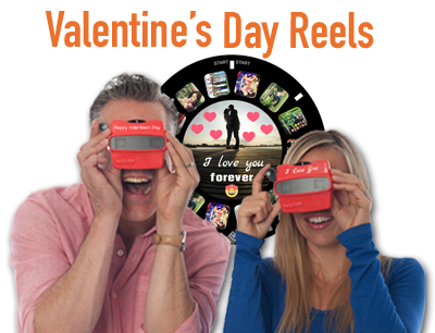 A RetroViewer is a perfect gift to highlight your relationship on Valentine's Day