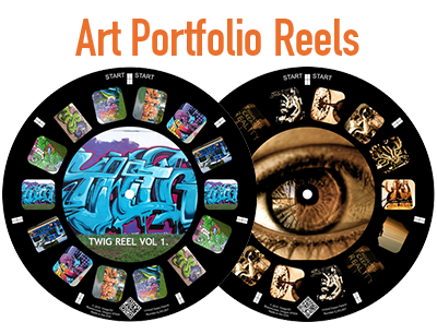 Show off your artwork on a custom reel