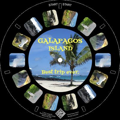 If I went to the Galapagos, I'd make a custom reel keepsake