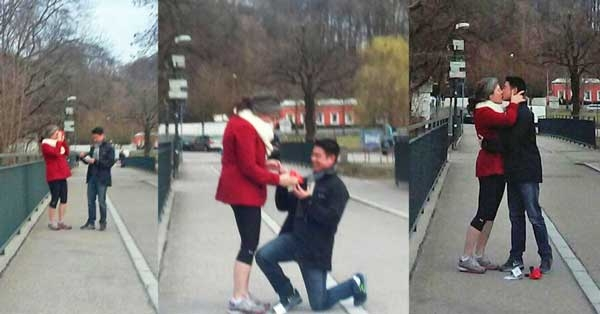 A marriage proposal using a custom RetroViewer