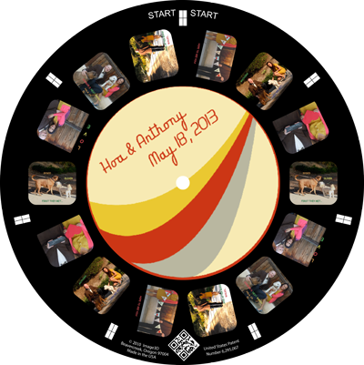 Tell your story and invite guests to your wedding with a custom RetroViewer