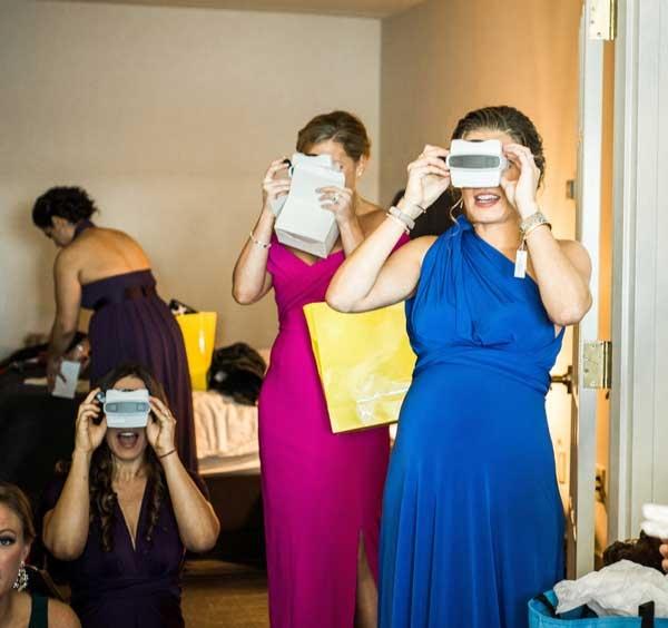 Custom RetroViewers make fun wedding party gifts