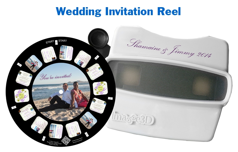 A one-of-a-kind wedding invitation with RetroViewer