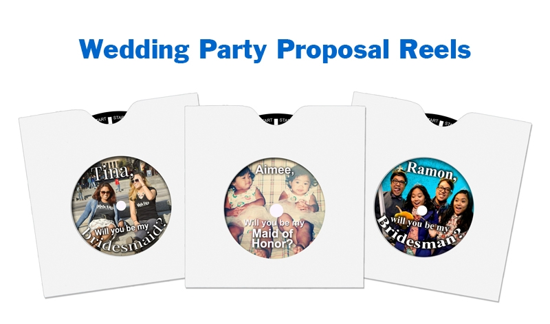 Use a custom RetroViewer for a unique wedding party proposal