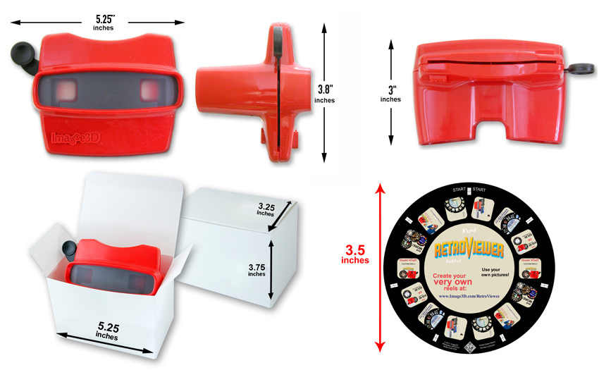 Dimensions of Reel and Viewer Set