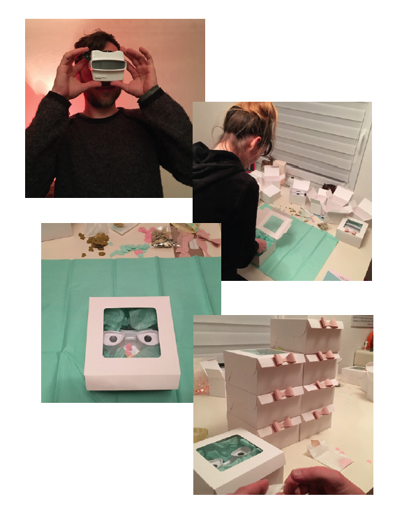Yvonne & Daniel make customized packaging for their RetroViewer wedding invitations