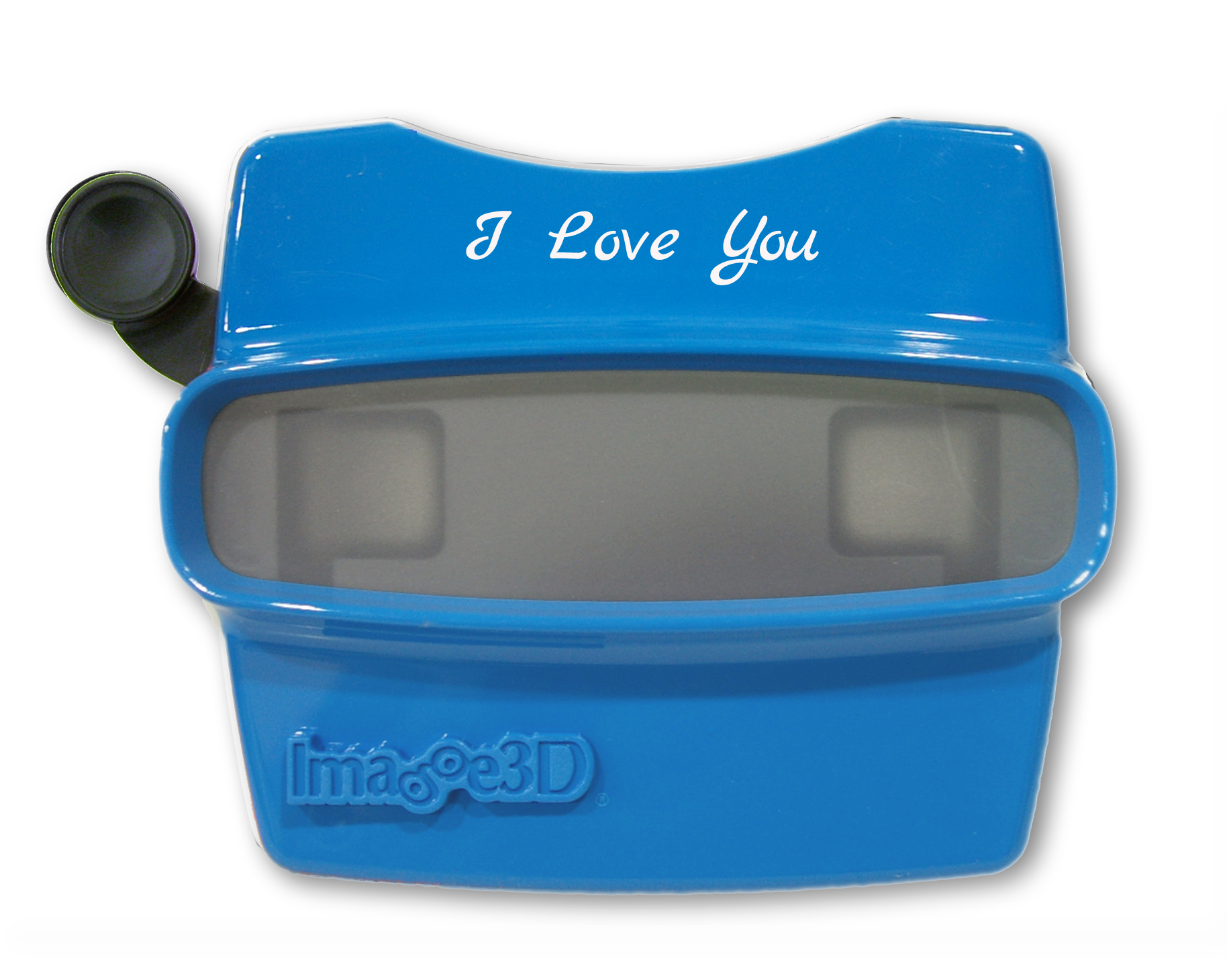 Blue RetroViewer with I Love You customization