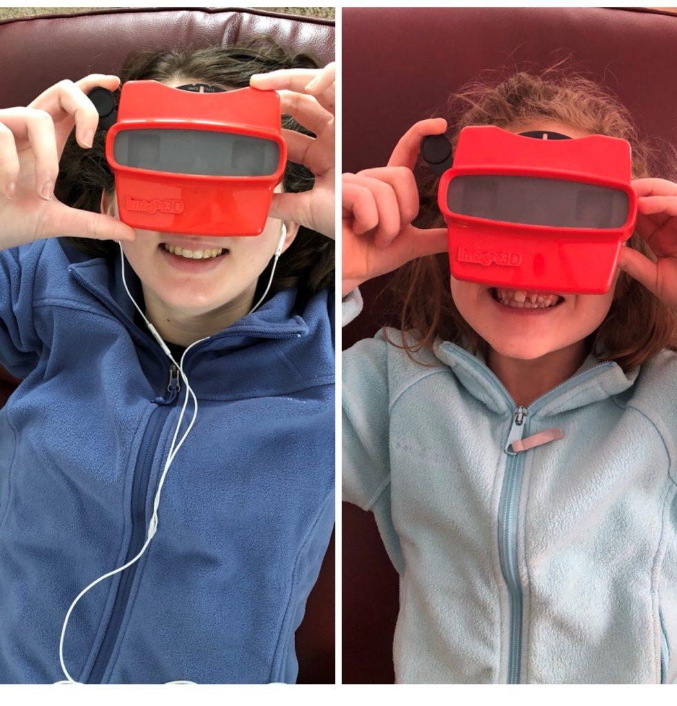 Kim's kids love their custom RetroViewer reels