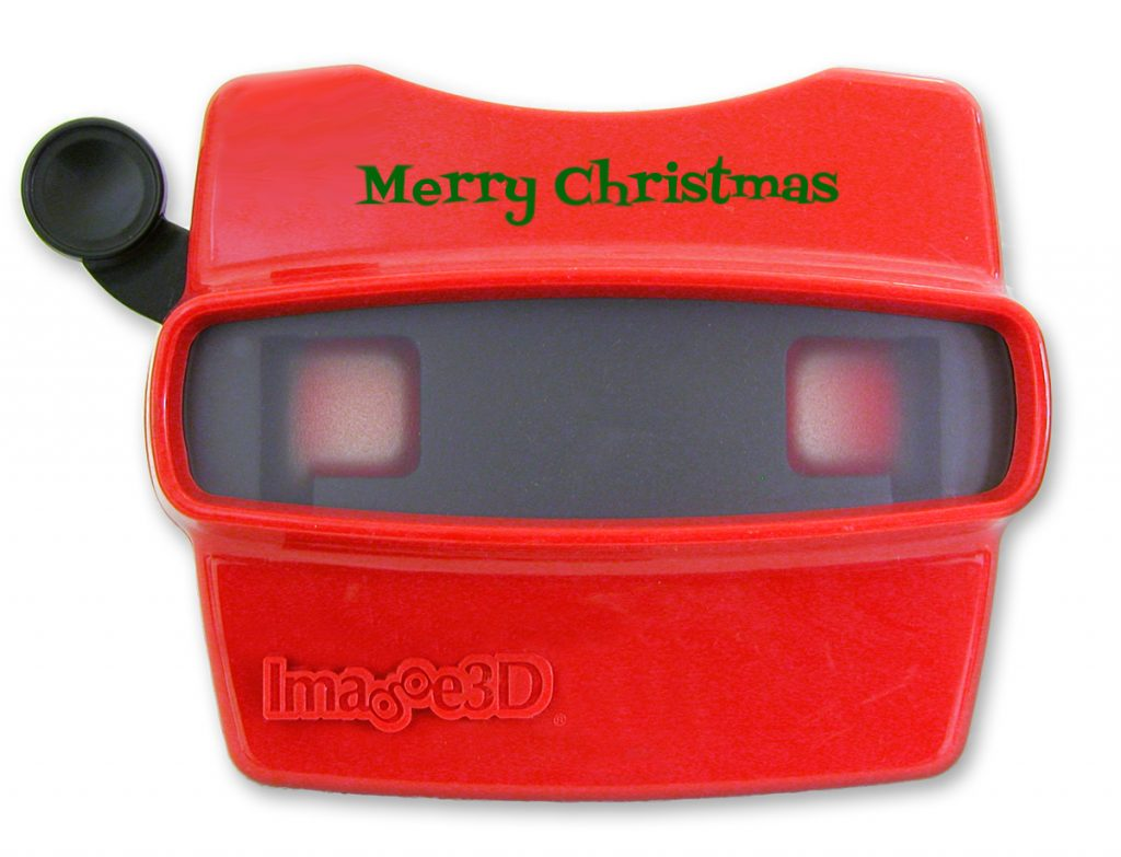 Merry Christmas RetroViewer in Red