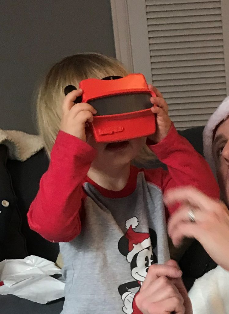 Christmas morning RetroViewer gift