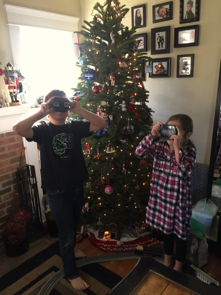 Kid's enjoying their RetroViewer gifts