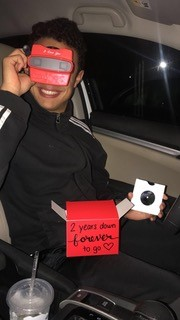 Jessica's boyfriend loves his anniversary gift