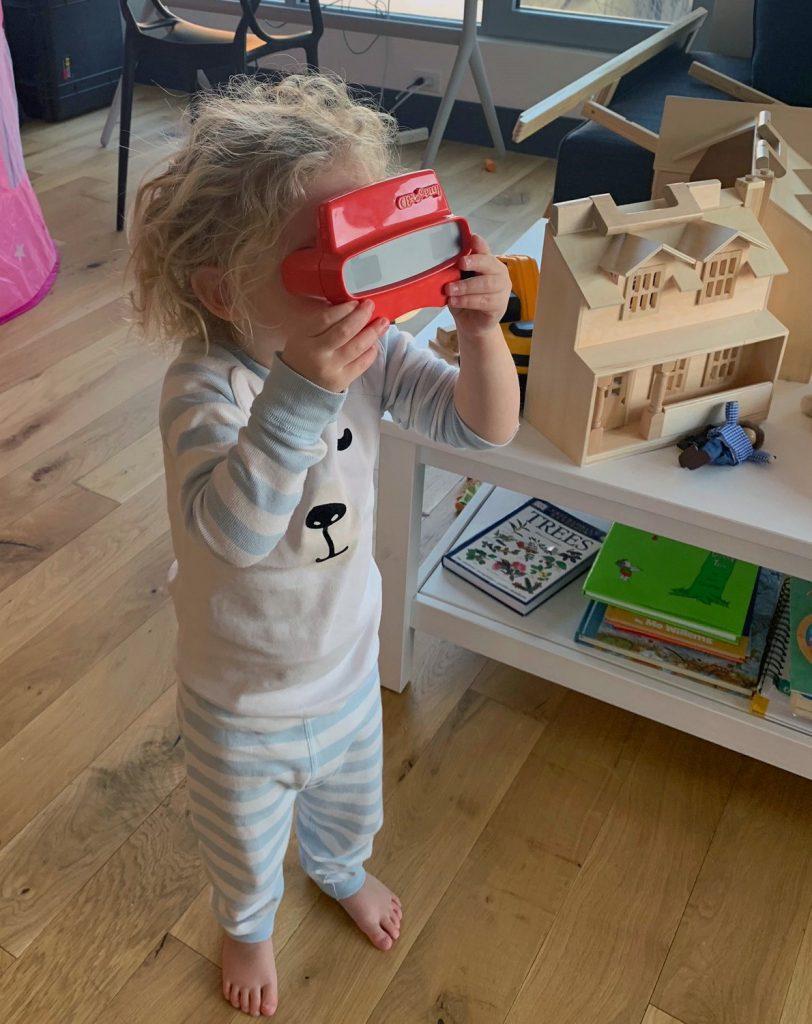 Margaret's grandchild loves her RetroViewer